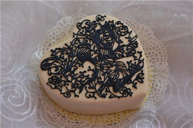 Как сделать кружево для украшения торта